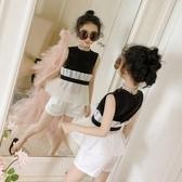 童裝女童套裝新款夏季韓版時尚無袖兒童兩件套洋氣夏裝潮衣  9號潮人館