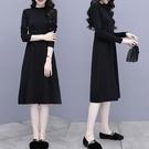 微購【A5212】半高領收腰素面洋裝 M...