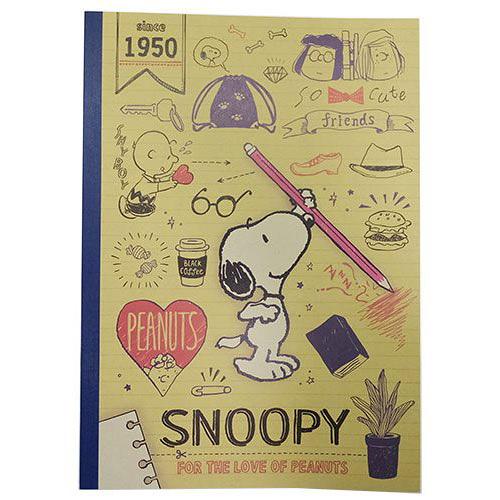 《KAMIO》SNOOPY B5平裝筆記本(STUDY)_KM86100