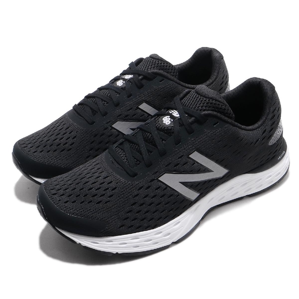 New Balance 慢跑鞋 NB 680 黑 銀 入門款緩震跑鞋 運動鞋 男鞋【ACS】 M680LK64E