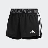 Adidas PACER 3S WVN SH 女款黑色運動訓練慢跑短褲-NO.GC7685