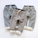 條紋棉絨鬆緊褲頭休閒長褲 聖誕 橘魔法Baby magic 現貨  童裝 男女童 童褲