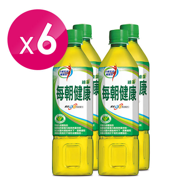 每朝健康綠茶四入650ml x6入團購組【康是美】