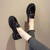鞋子女2020年新款小皮鞋女秋冬百搭厚底加絨松糕鞋英倫風老爹單鞋 【端午節特惠】