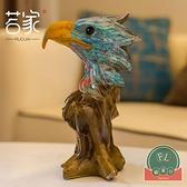 油畫藝術品鷹頭擺件歐式客廳家居裝飾品抽象工藝品雕塑藝術~福喜行~