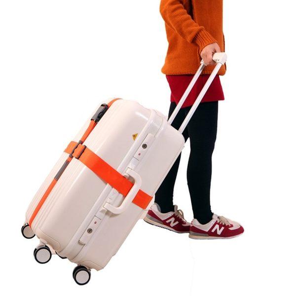 《簡單購》潮流時尚馬卡龍色創意十字型行李箱束帶(可選色)