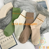 3雙裝綠色襪子女中筒春秋夏季薄款韓國學生長筒襪【奇妙商舖】