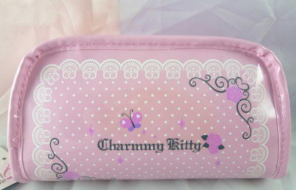 【震撼精品百貨】Charmmy Kitty_寵物貓 ~ 化妝包『玫瑰粉點』