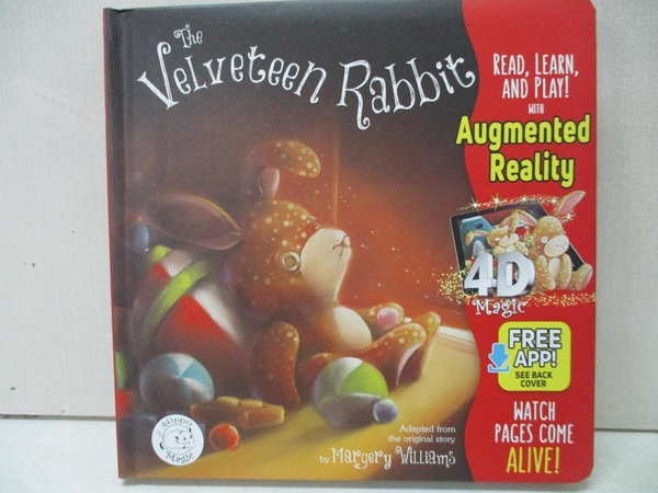 【書寶二手書T1/少年童書_EXP】The Velveteen Rabbit: Free Hippo Magic App Included