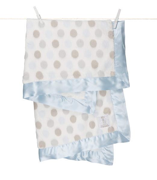 【美國 Little Giraffe】嬰兒被|頂級攜帶毯 - 豪華彩色點點嬰兒毯(藍色款)  LXDBKTBL