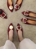 單鞋女新款仙女風春款網紅平底鞋子潮百搭淺口尖頭豆豆鞋 衣間迷你屋
