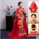 新娘嫁衣中式龍鳳褂結婚敬酒服孕婦夏季大碼秀和服【跨年交換禮物降價】