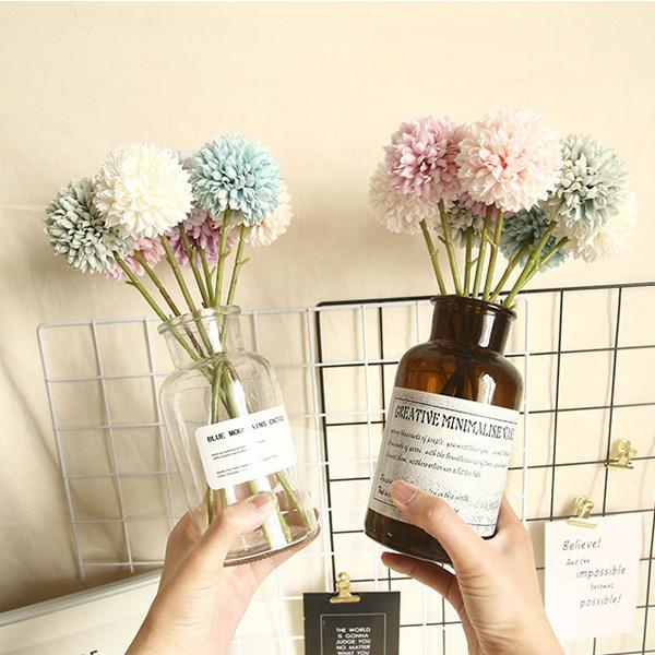 【BlueCat】仿真花 小蔥球 球菊 蒲公英插花材料 拍照道具 插花 花藝 花材 花牆