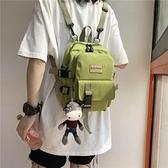 後背包多用小後背包女個性小巧出游逛街小背包韓國工裝百搭斜背包新款  迷你屋 新品