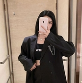 西裝外套女韓版寬鬆英倫風設計感西服秋季【少女顏究院】