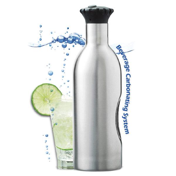 Soda Splash 魔泡瓶 1.2 L 不鏽鋼氣泡水機(單瓶含11顆氣彈)