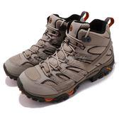 Merrell 戶外鞋 Moab 2 Mid GTX 灰 黑 Vibram 黃金大底 健行 登山鞋 男鞋【PUMP306】 ML12119