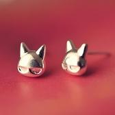 925純銀耳環(耳針式)-可愛小貓咪生日情人節禮物女飾品73ag341[巴黎精品]
