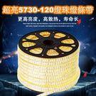 [好也戶外] (升級版)LED軟燈條-5730-120燈-五米(含遙控器切換黃白光)