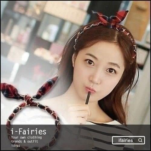 現貨+快速★囌格蘭格子髮箍髮帶★ifairies【29904】