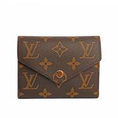 【LV】VICTORINE三折信封零錢袋釦式短夾 M62472