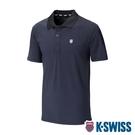 【超取】K-SWISS Mesh Panel Polo排汗Polo衫-男-黑