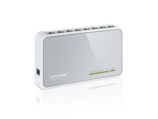 TP-LINK 10/100 Switch 8ports 塑膠殼 ( TL-SF1008D )