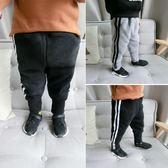 男童長褲 男童加絨休閒褲新款寶寶加厚運動褲嬰幼兒韓版小腳長褲子 米蘭街頭