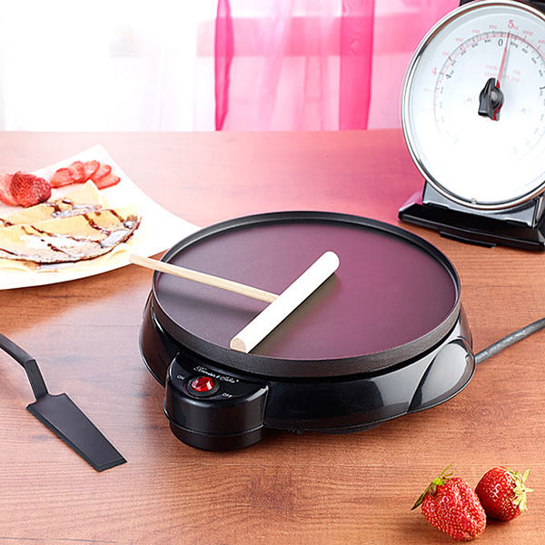 電餅鐺單面加熱家用煎餅機可麗餅機家用電烙餅鍋春餅機薄餅機 WE1762『優童屋』