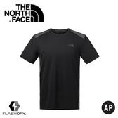 【The North Face 男 短袖排汗衣《黑》】NF0A2SMF/排汗衣/短袖/圓領T恤