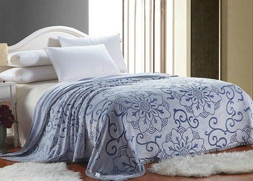 D111秋冬法蘭絨雕花蓋毯