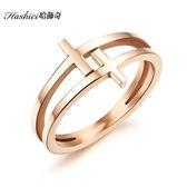 [哈飾奇]韓版十字架造型女戒指 聖誕節禮物 情人節禮物 生日禮物【BKS491】單只價