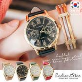 正韓LAVENDA拜占庭粹鍊風華閃耀羅馬假雙眼真皮手錶對錶單件【WLA293】璀璨之星☆
