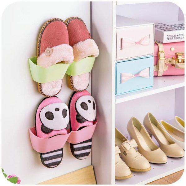 [超豐國際]壁掛鞋子防塵收納架門后塑料簡易收納鞋柜家用客廳掛墻鞋架