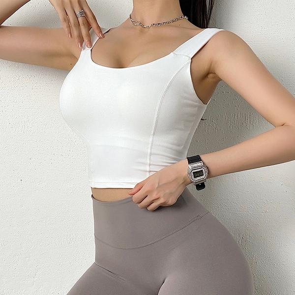 運動背心 美背運動內衣女寬肩帶聚攏防震速幹性感瑜伽背心式跑步健身文胸秋