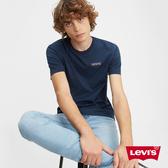 Levis 男款 短袖T恤 / 膠印復古Box Logo / 海軍藍