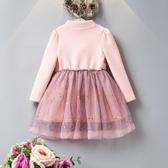 3女童加絨連衣裙4秋冬新款韓版6寶寶冬季5保暖加厚粉公主裙子7歲8Mandyc