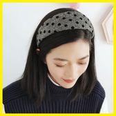除舊迎新 頭箍韓國簡約布藝寬邊波點圓點發箍女百搭頭髮飾