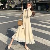 針織洋裝女裝2020年秋冬新款法式名媛氣質內搭修身顯瘦打底長裙 【端午節特惠】
