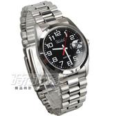 OMAX 時尚城市數字圓錶 不銹鋼錶帶 藍寶石水晶鏡面 放大鏡日期顯示窗 女錶 男錶 OM4002M黑大