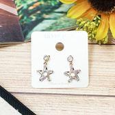 925純銀 歐美風 復古懷舊 立體星星造型 簡約個性耳環   OS小舖