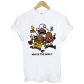 邪惡海綿寶寶Sponge短袖T恤 白色 搶劫趣味幽默玩翻搞笑街頭滑板t-shirt $390 gildan