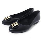 Petite Jolie 經典金屬LOGO娃娃鞋-黑色
