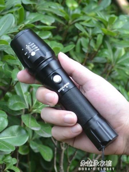 強光手電筒可充電超亮遠射1000氙氣防水5000燈打獵w多功能特種兵 朵拉朵