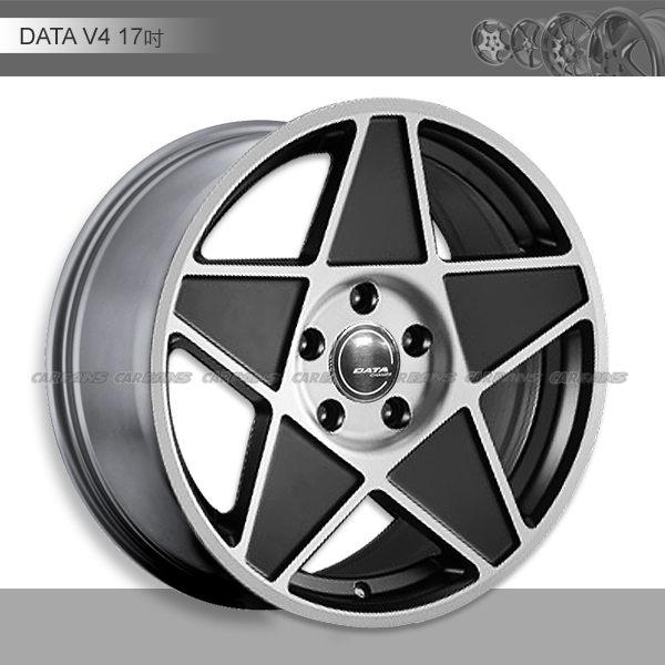 【愛車族購物網】DATA V4鋁圈-17吋  5H114-霧黑底車面