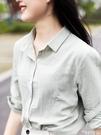 棉麻上衣 秋季棉麻襯衫女新款休閒上衣大碼寬鬆純棉長袖打底襯衣純色外套 曼慕