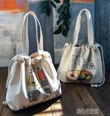 便當袋便當袋手提包日式飯盒袋子飯包包手提帶飯包上班族手提袋時尚 快速出貨