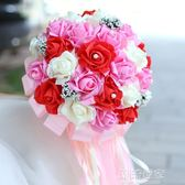韓式新娘手捧花花束33朵加大仿真玫瑰滿天星定制花球慶典影樓道具『潮流世家』