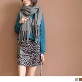 《CA1506》流行豹紋印花A字短版褲裙 OrangeBear