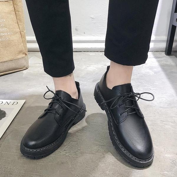 秋季英倫皮鞋休閒商務正裝黑色小皮鞋男韓版潮流夏季青年上班西裝 酷男精品館